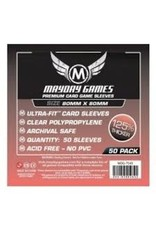 Mayday PREMIUM MEDIUM SQUARE SLEEVES 80mm X 80mm 50CT