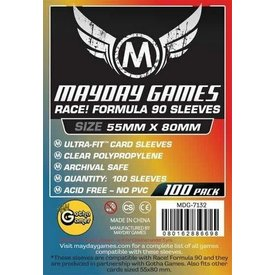 Mayday STANDARD RACE FORMULA 90 SLEEVES 55mmX80mm 100CT