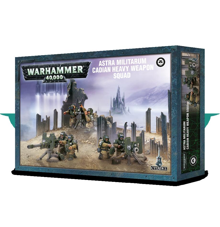 Warhammer 40k ASTA MILITARUM CADIAN HEAVY WEAPON SQUAD