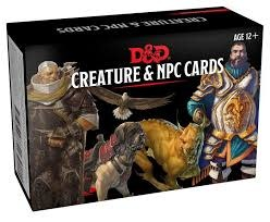 Wizards of the Coast DND CREATURE AND NPC CARDS