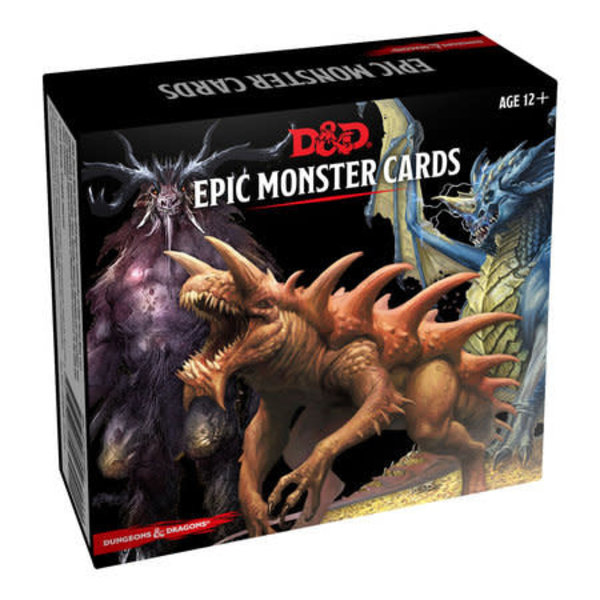 Wizards of the Coast DND EPIC MONSTER CARDS