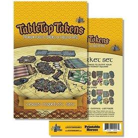 Geek Tank Games TABLETOP TOKENS TOWN MARKET SET