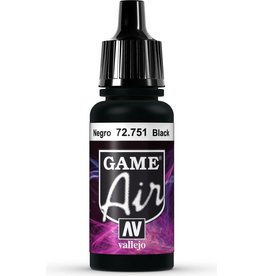 Vallejo VALLEJO: GAME AIR BLACK 17ML