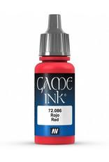 Vallejo VALLEJO: GAME COLOR RED INK 17ML