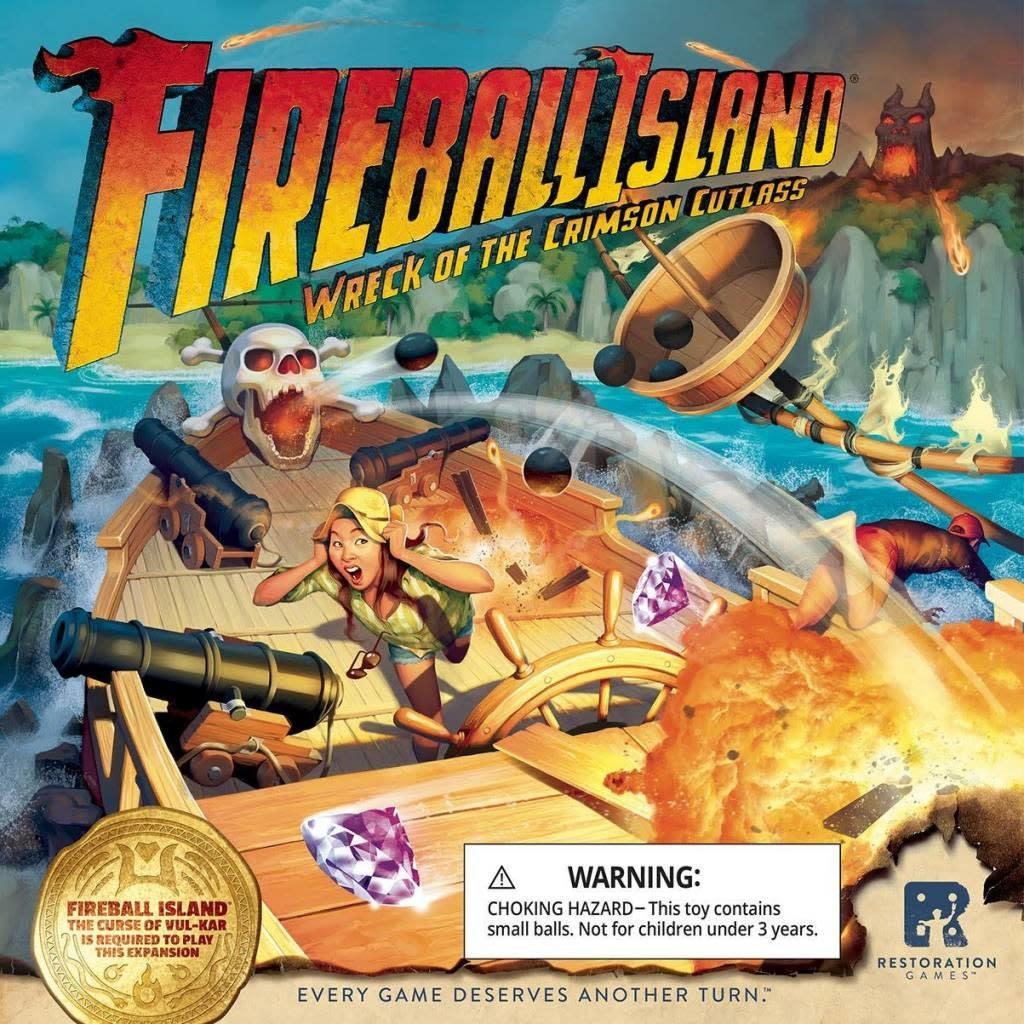 Restoration Games Fireball Island - Ext. Wreck of the Crimson Cutlass