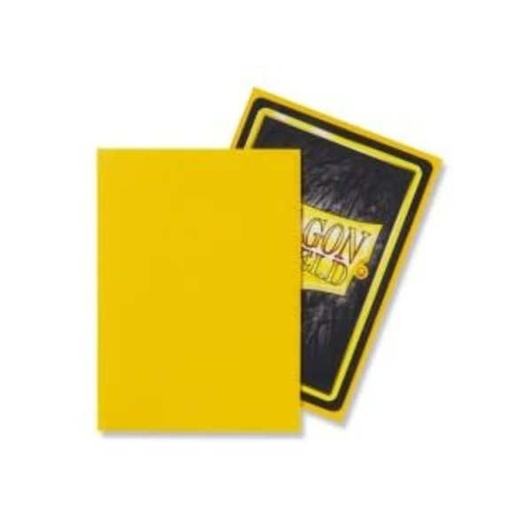 Arcane Tinmen DRAGON SHIELD SLEEVES YELLOW MATTE 100CT