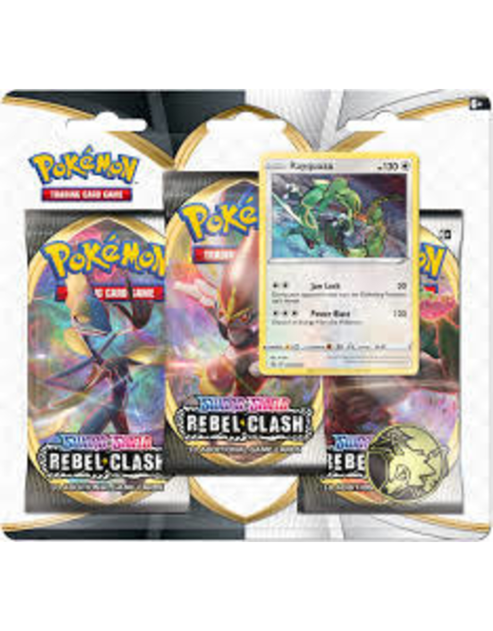 POKEMON POKEMON SWSH2 REBEL CLASH 3PK BLISTER - Rayquaza