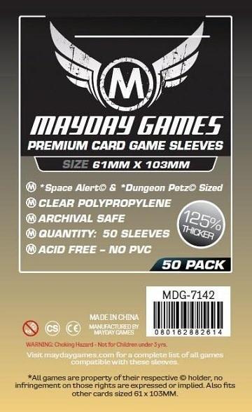 Mayday PREMIUM SPACE ALERT SLEEVES 61mm x 103mm 50CT
