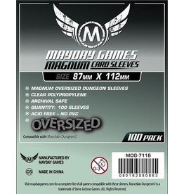Mayday MAGNUM OVERSIZED DUNGEON SLEEVES 87mm X 112mm 100CT