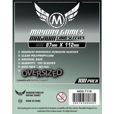 MAGNUM OVERSIZED DUNGEON SLEEVES 87mm X 112mm 100CT