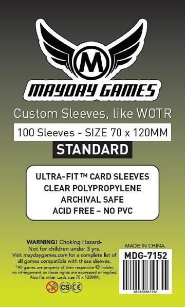 Mayday STANDARD TAROT SLEEVES 70mm X 120mm 100CT