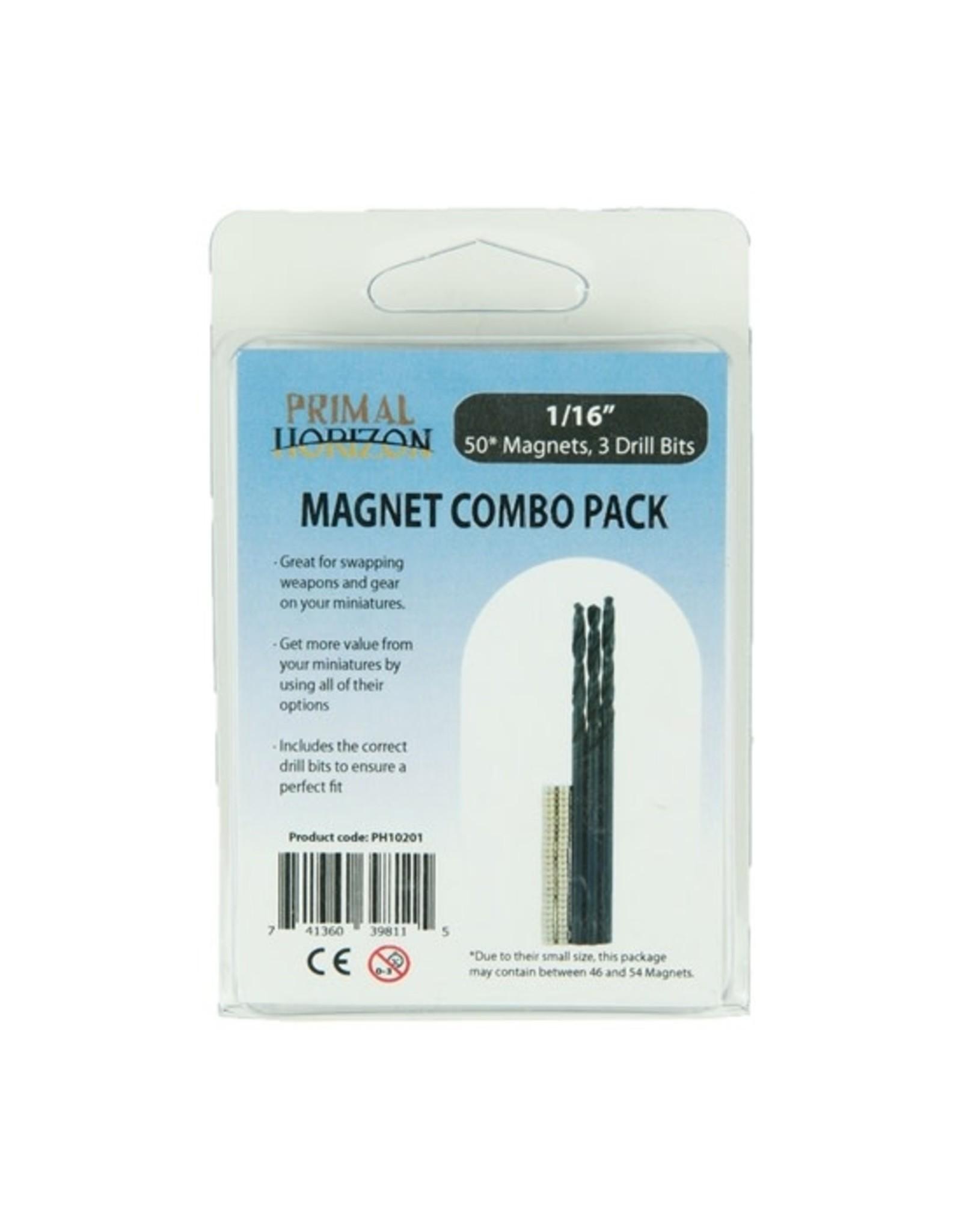 Primal Horizon MAGNETS: COMBO PACK 1/16 X 1/32 (50 + DRILLX3)