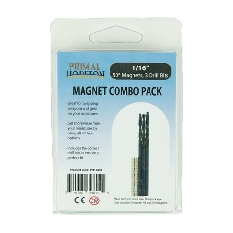 MAGNETS: COMBO PACK 1/16  (50 + DRILLX3)
