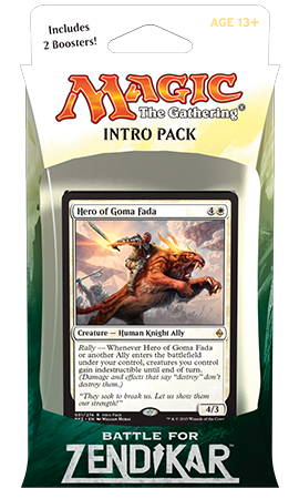 Wizards of the Coast FR - MTG BATTLE FOR ZENDIKAR INTRO PACK - CRI DE RALLIEMENT