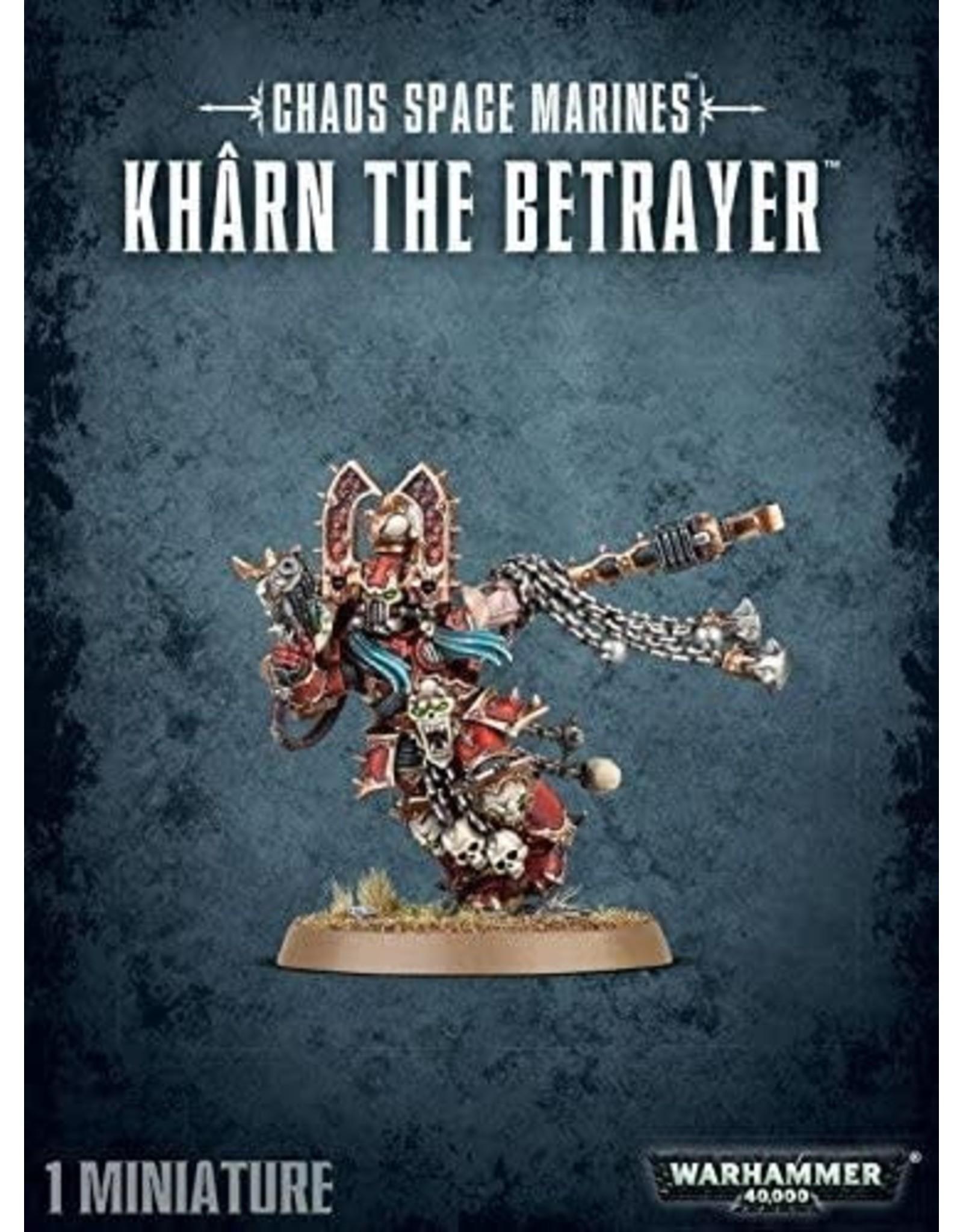 Warhammer 40k CHAOS SPACE MARINES KHARN THE BETRAYER