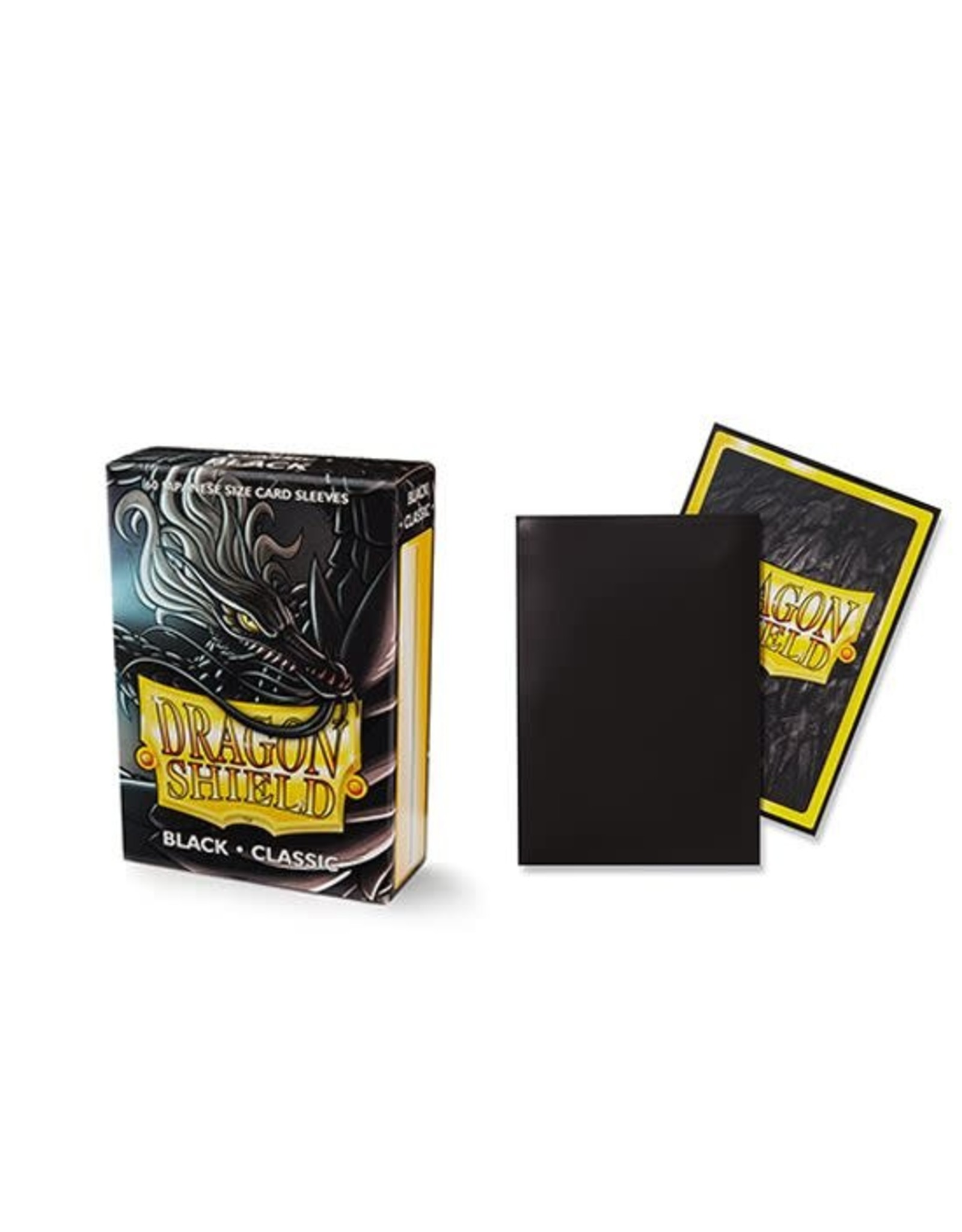 Arcane Tinmen DRAGON SHIELD SLEEVES JAPANESE BLACK 60CT