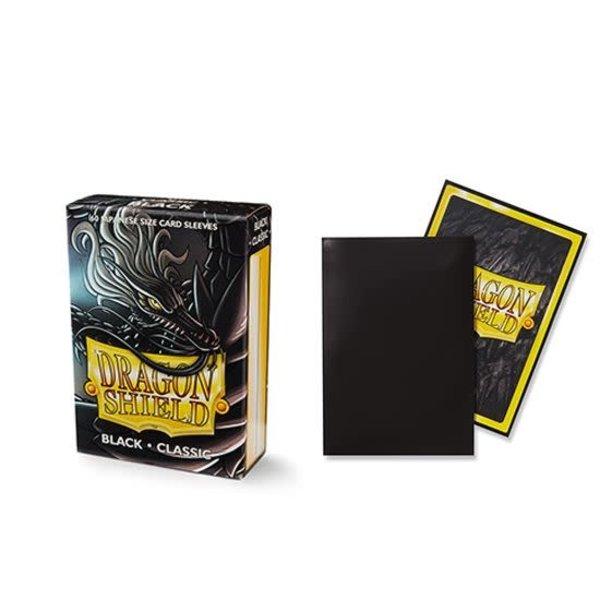 Arcane Tinmen DRAGON SHIELD SLEEVES JAPANESE BLACK 60CT