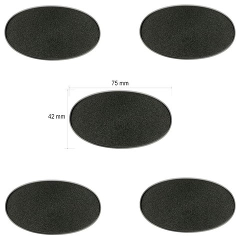 Citadel 75x42mm Oval Bases (5)