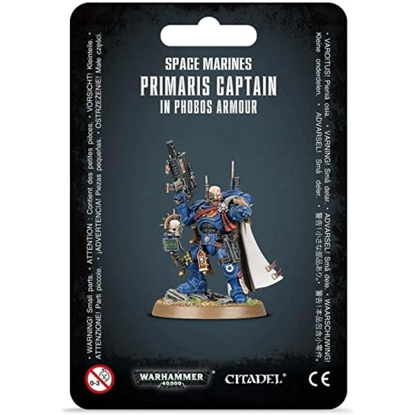 Warhammer 40k Space Marines Primaris Captain in Phobos Armour