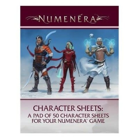 NUMENERA - 50 CHARACTER SHEETS