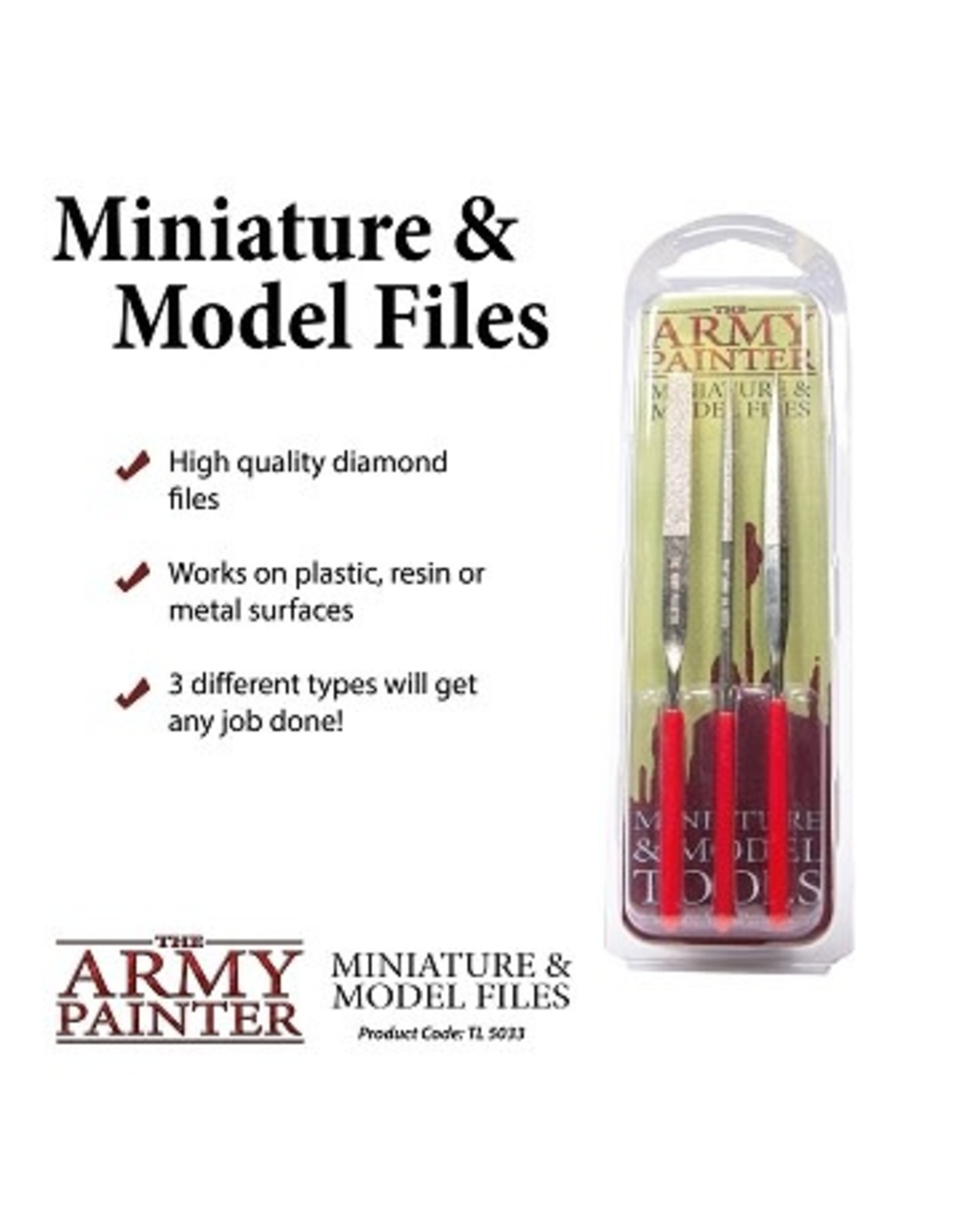 Army Painter MINIATURE & MODEL TOOLS: FILES