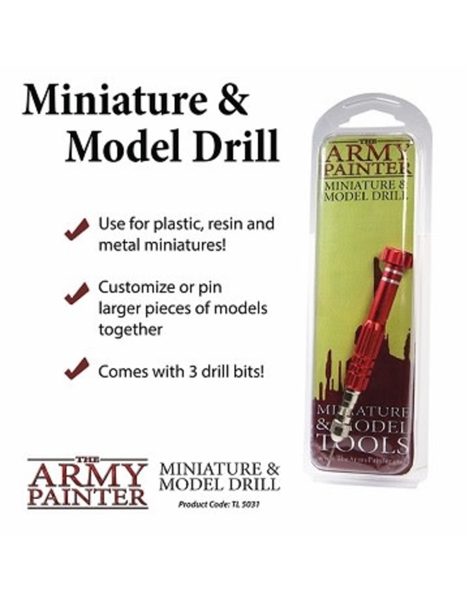 Army Painter MINIATURE & MODEL TOOLS: DRILL