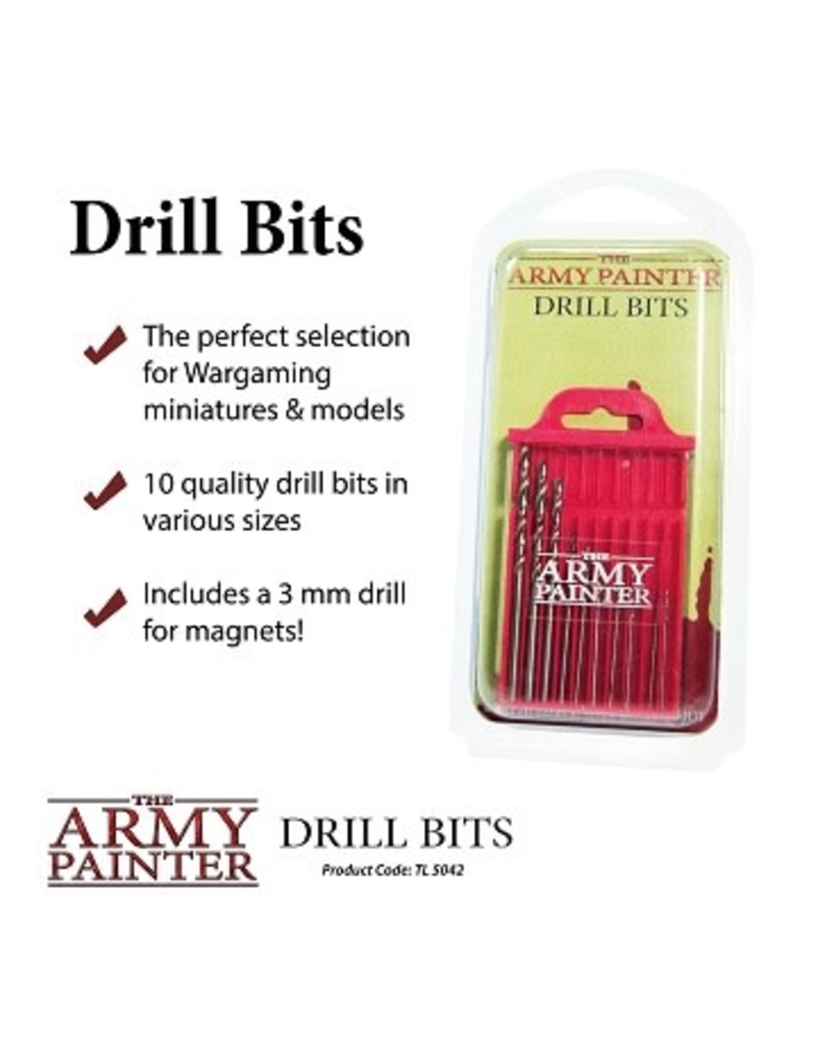 Army Painter MINIATURE & MODEL TOOLS: DRILL BITS