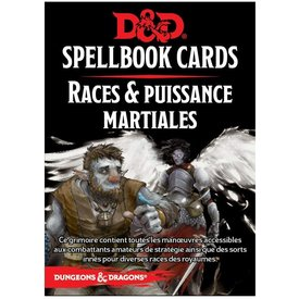 Wizards of the Coast FR - D&D - SPELLBOOK CARDS: PUISSANCE MARTIALE & RACES