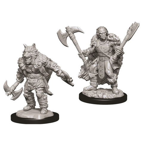 DND UNPAINTED MINIS: MALE HALF-ORC BARBARIAN