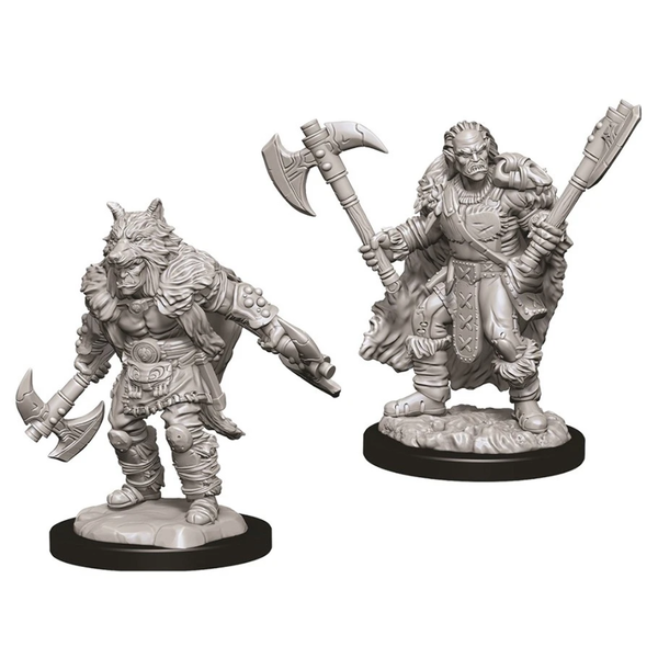 WIZKIDS DND UNPAINTED MINIS: MALE HALF-ORC BARBARIAN