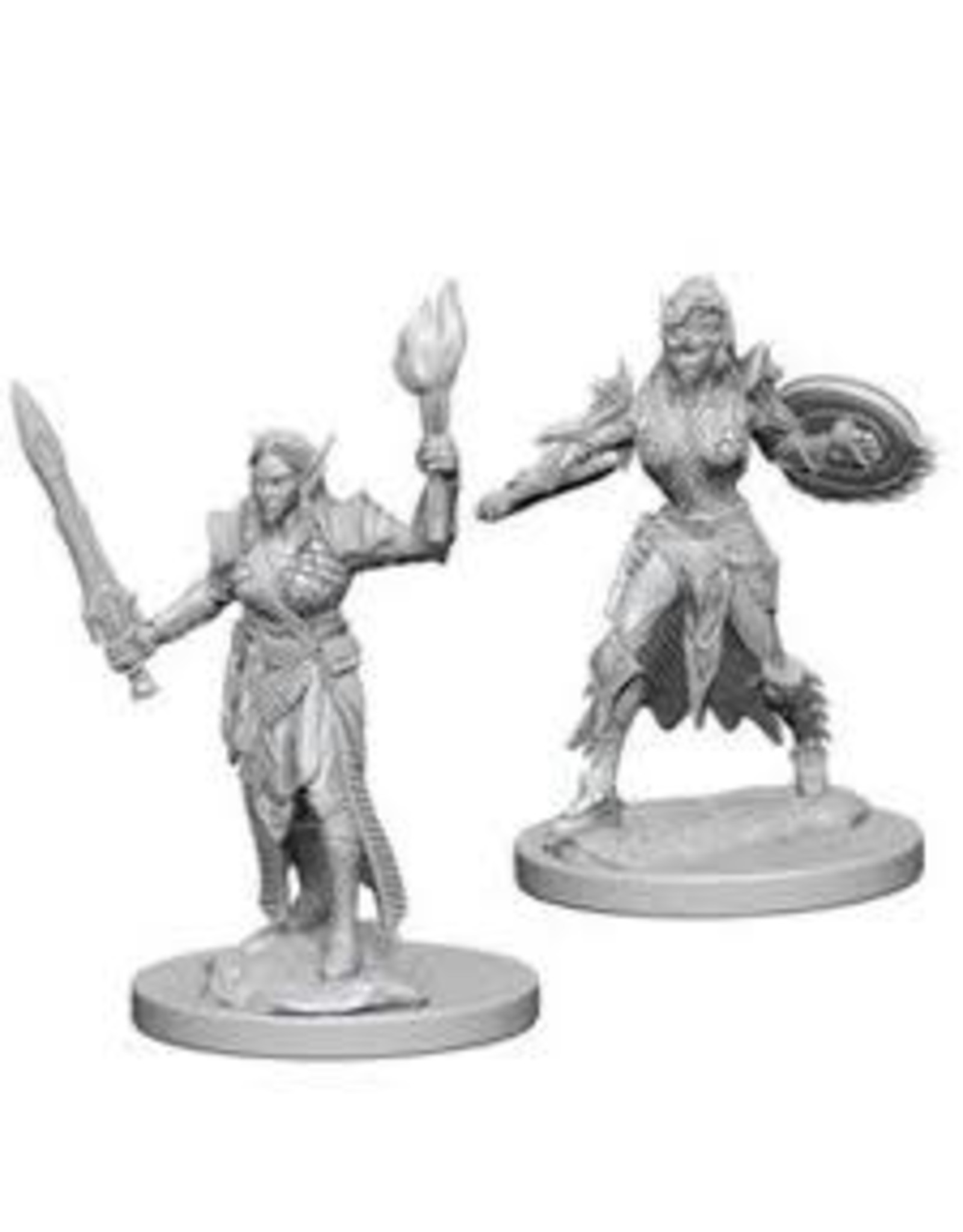 WIZKIDS PF UNPAINTED MINIS: ELF FEMALE FIGHTER