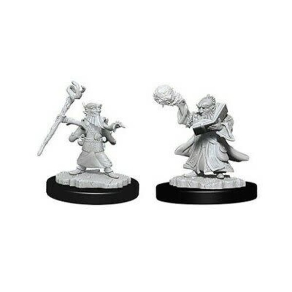 WIZKIDS DND UNPAINTED MINIS: MALE GNOME WIZARD