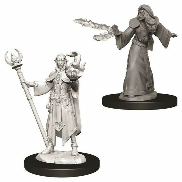 WIZKIDS DND UNPAINTED MINIS: MALE ELF WIZARD