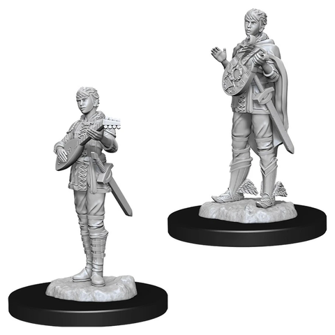 DND UNPAINTED MINIS: FEMALE HALF-ELF BARD