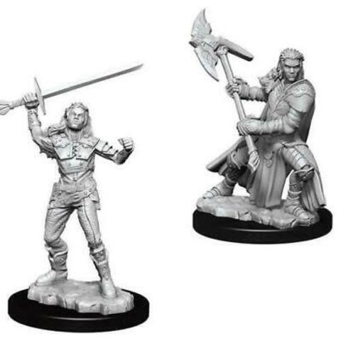DND UNPAINTED MINIS: FEMALE HALF-ORC FIGHTER