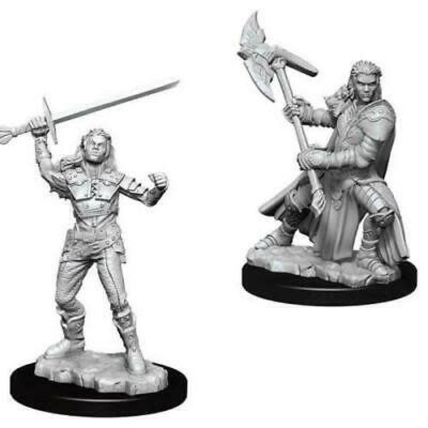 WIZKIDS DND UNPAINTED MINIS: FEMALE HALF-ORC FIGHTER