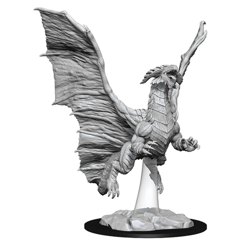 DND UNPAINTED MINIS: YOUNG COPPER DRAGON