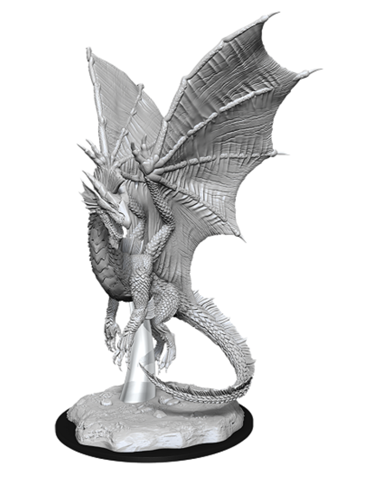 WIZKIDS DND UNPAINTED MINIS: YOUNG SILVER DRAGON