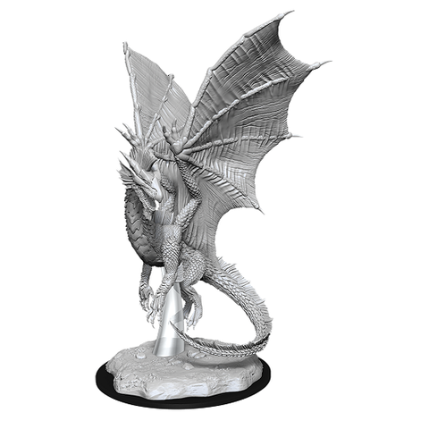 DND UNPAINTED MINIS: YOUNG SILVER DRAGON
