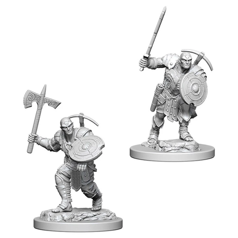 DND UNPAINTED MINIS: EARTH GENASI MALE FIGHTER