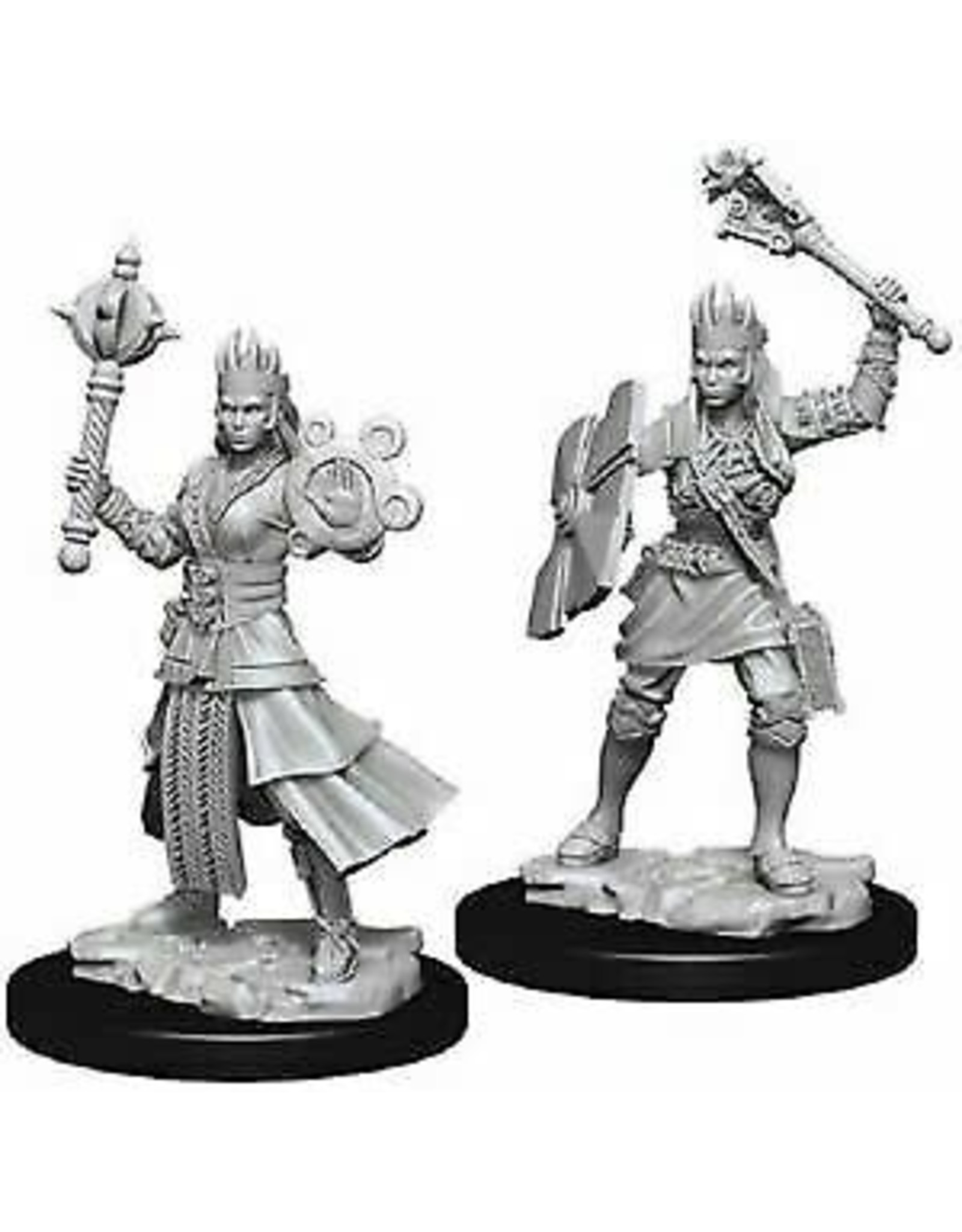 WIZKIDS DND UNPAINTED MINIS: FEMALE HUMAN CLERIC