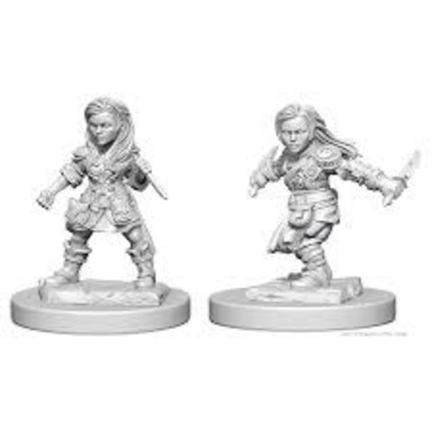 DND UNPAINTED MINIS: HALFLING FEMALE ROGUE
