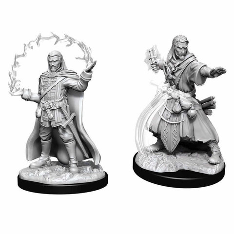 DND UNPAINTED MINIS: MALE HUMAN WIZARD