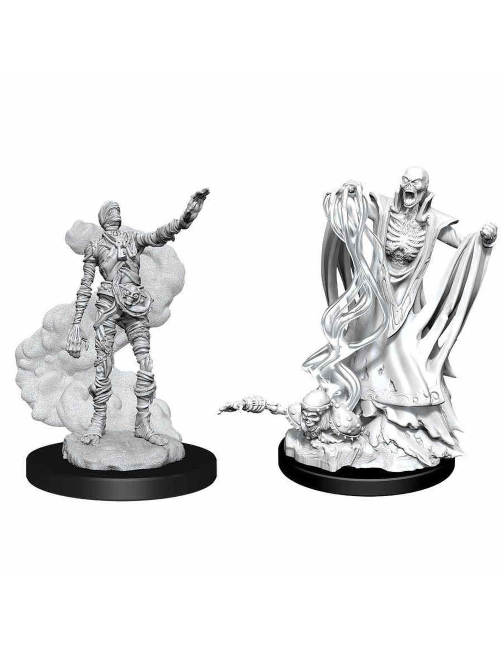 WIZKIDS DND UNPAINTED MINIS: LICH AND MUMMY LORD