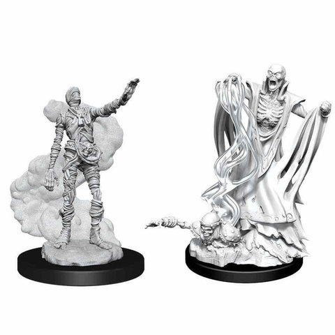 DND UNPAINTED MINIS: LICH AND MUMMY LORD