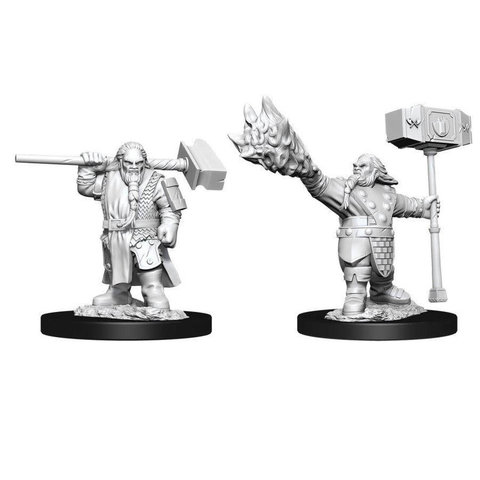 DND UNPAINTED MINIS: MALE DWARF CLERIC