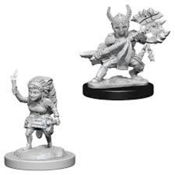 WIZKIDS DND UNPAINTED MINIS: FEMALE HALFLING FIGHTER