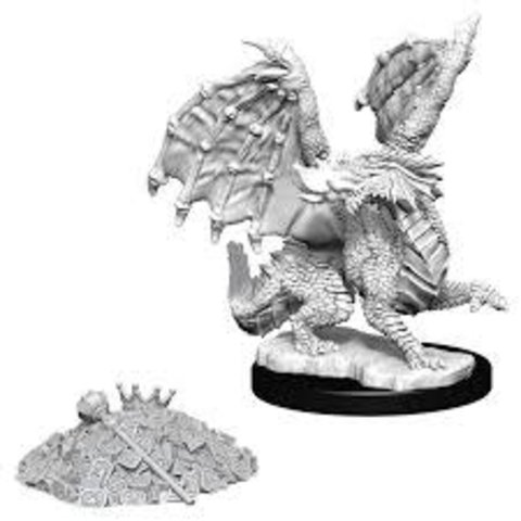 DND UNPAINTED MINIS: RED DRAGON WYRMLING