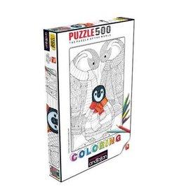 Anatolian Puzzle: 500 Penguin Family (à colorier)