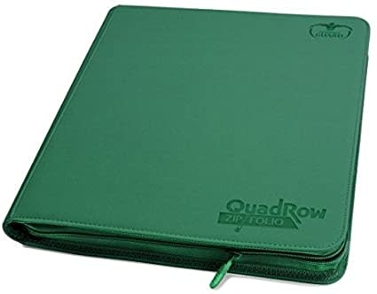Ultimate Guard UG QUADROW ZIPFOLIO XENOSKIN 12PKT GREEN